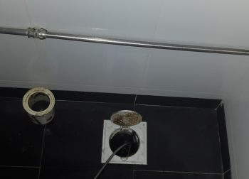 Clear Floor Trap Drainage Pipe Plumber Singapore Guan Chuan St