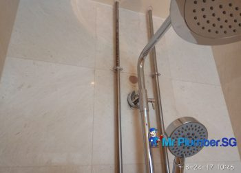 Installation Of New Shower System Plumber Singapore HDB Kallang
