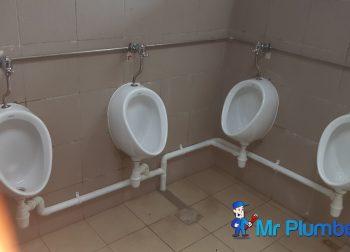 Installing Public Urinal Plumber Singapore Commercial Aljunied