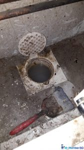 Clear-Floor-Trap-Choke-Plumber-Singapore-Condo-Queens
