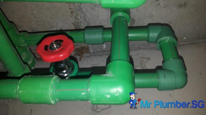 Fix PPR Pipe Leak Plumber Singapore Condo Balestier