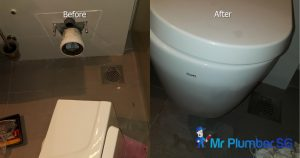 Toilet-bowl-drainage-pipe-repair-plumber-singapore-HDB-Dover1_wm