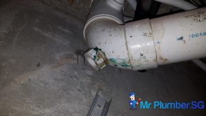 Fixing-pipe-leakage-&-replacing-sink-bottle-trap-&-false-ceiling-repair-plumber-singapore-Condo-River-Valley-1