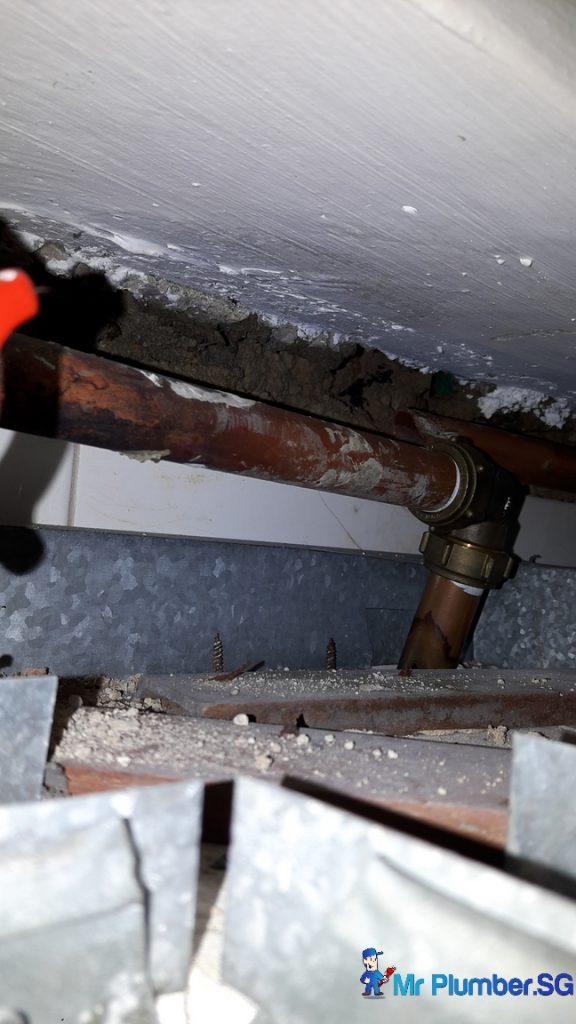 Copper Pipe Leak Repair Plumber Singapore HDB Kovan - Mr Plumber ...