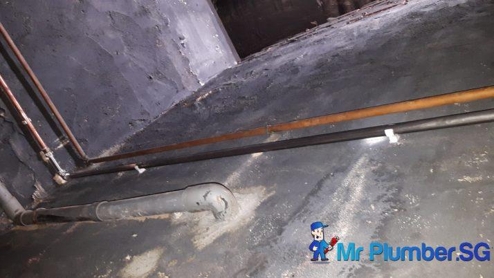 Copper Pipe Leakage Repair Plumber Singapore Condo Bukit Panjang