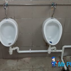 Installing-public-urinal-plumber-singapore-Commercial-Aljunied-4