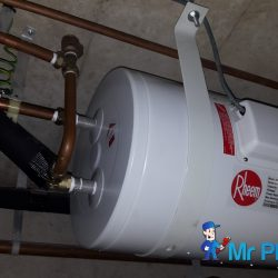 Installing-rheem-storage-water-heater-plumber-singapore-Condo-West-Coast-4