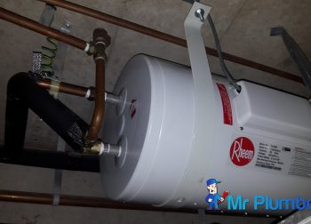 Installing Rheem Storage Water Heater Plumber Singapore Condo West Coast