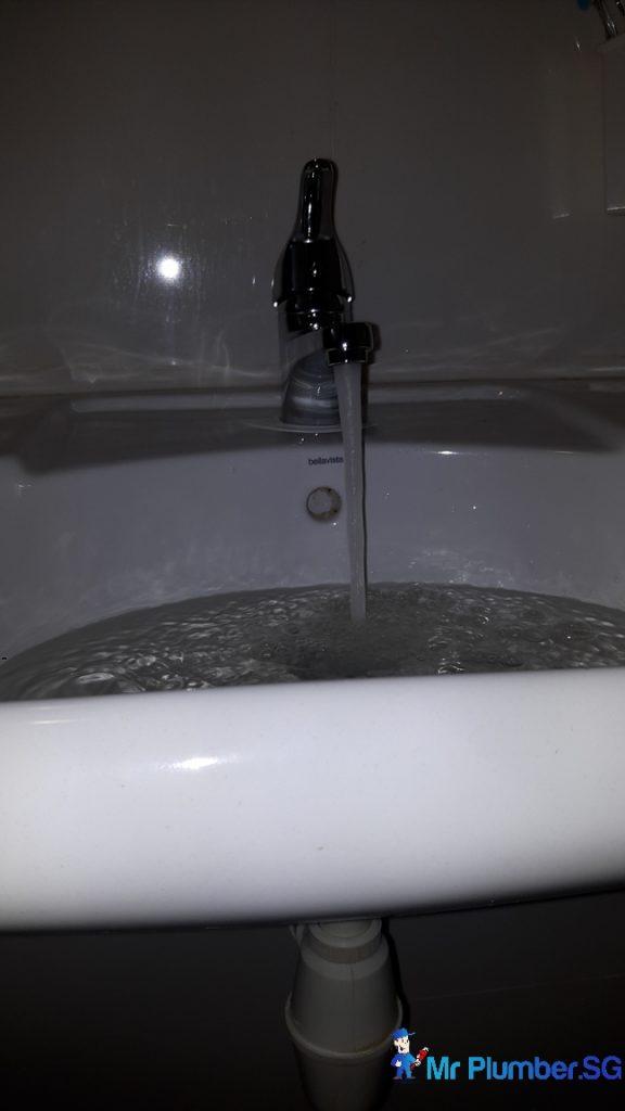 Fix bathroom sink tap plumber singapore hdb clementi mr for Bathroom sink singapore