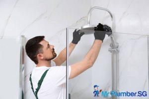 plumber-fixing-shower-head-low-water-pressure-mr-plumber-singapore
