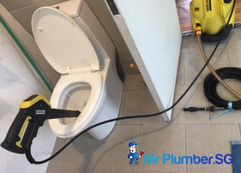 Clear Toilet Bowl Choke in Singapore Condo – Thomson