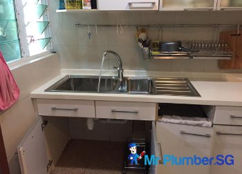 Kitchen Sink Replacement Plumber Singapore Condo– Marine Parade